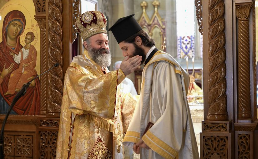 """Archbishop Makarios to new deacon:  """"As love will crucify you, so will it crown you"""""""